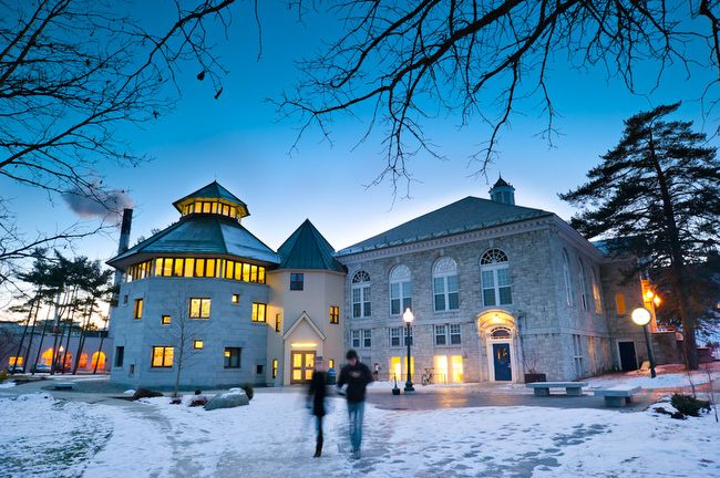 Mccullough In Winter Middlebury College Vermont Usa