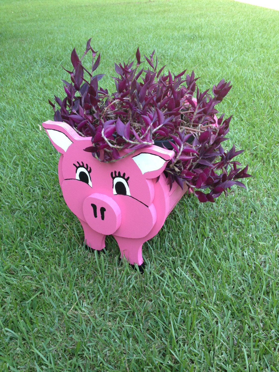 Wooden Animal Planter Pig By Cutsncrafts On Etsy Cuts