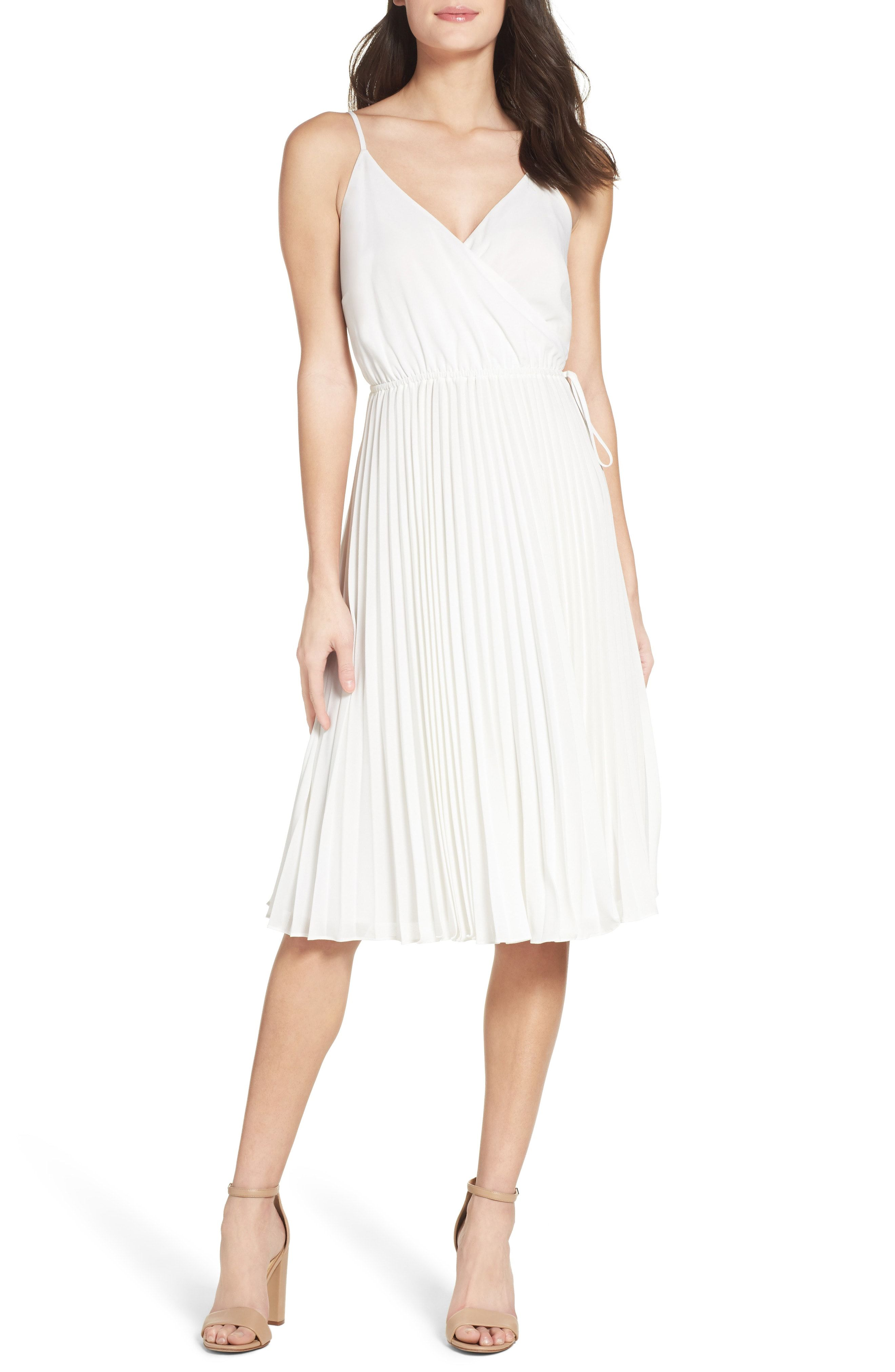 Ali Jay Lily Pond Fit Flare Dress Available At Nordstrom Pleated Midi Dress Little White Dresses White Dresses For Women [ 4048 x 2640 Pixel ]