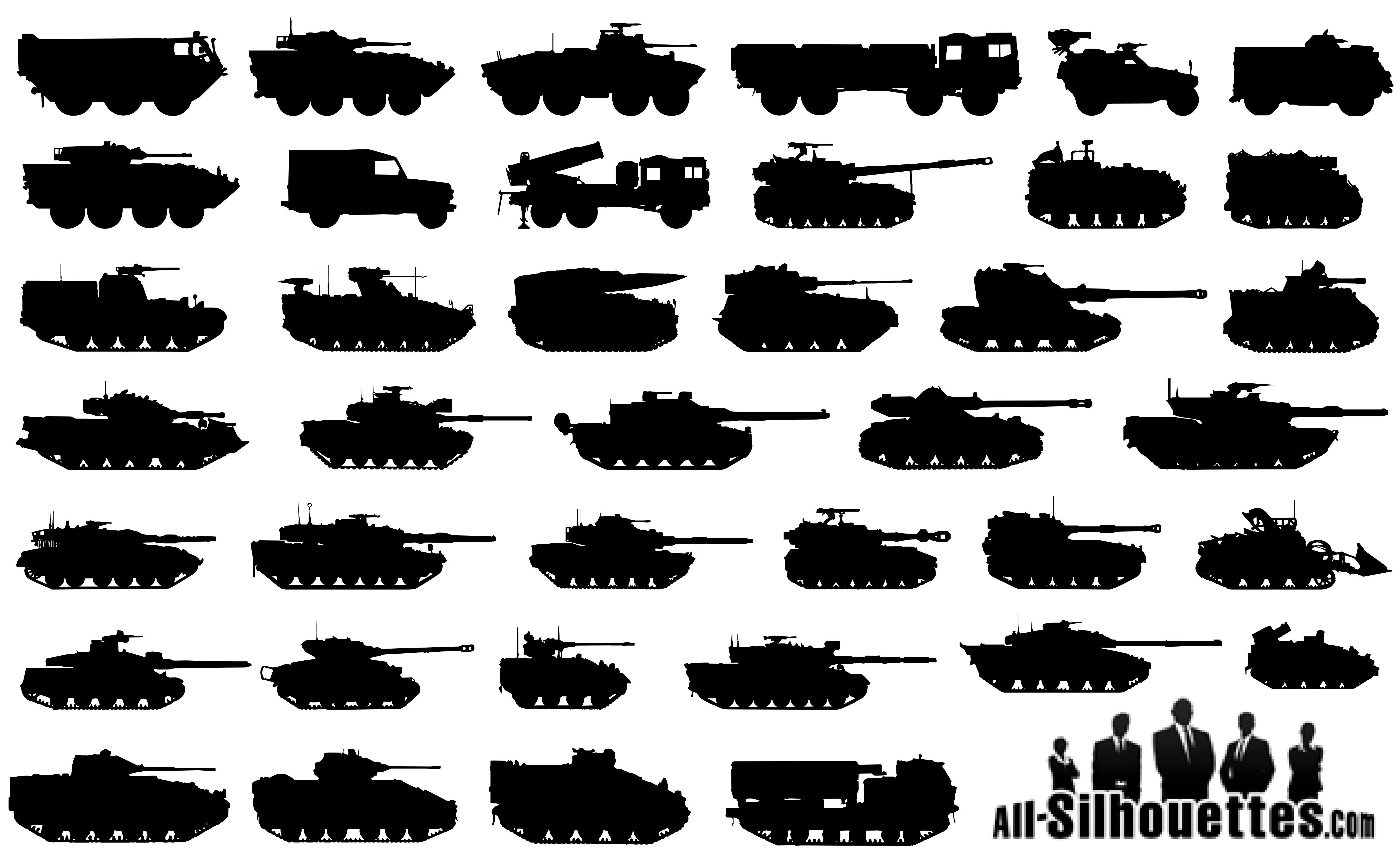 40 Military Tanks Silhouettes | icons | Pinterest ...