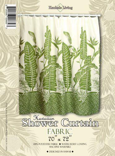 Hawaiian Fabric Shower Curtain Bird Of Paradise By Kauhale Living
