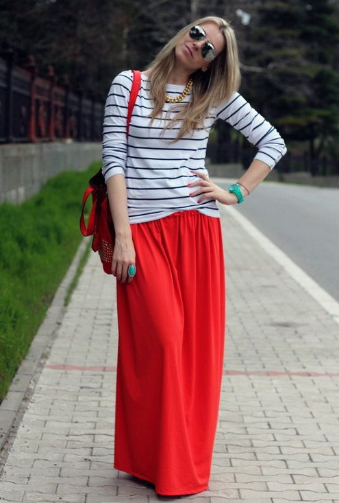 ddb30e1851 27 Maxi Dresses and Maxi Skirt The Best Street Style Choice For This Summer Ropa  Para