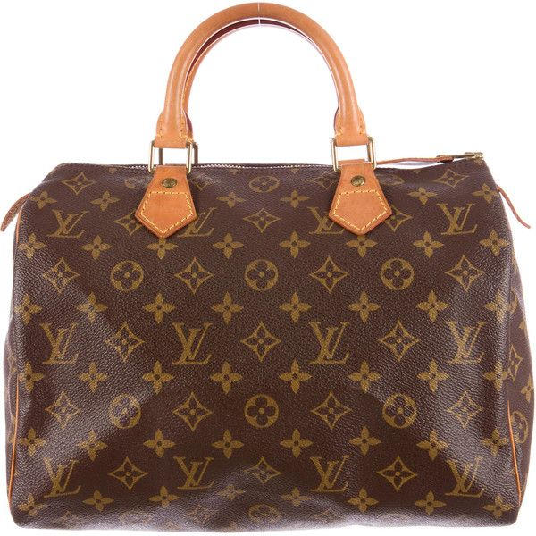 98a22f141c10 ... Pre-owned Louis Vuitton Speedy 30 ( 545) ❤ liked on Polyvore featuring  bags ...