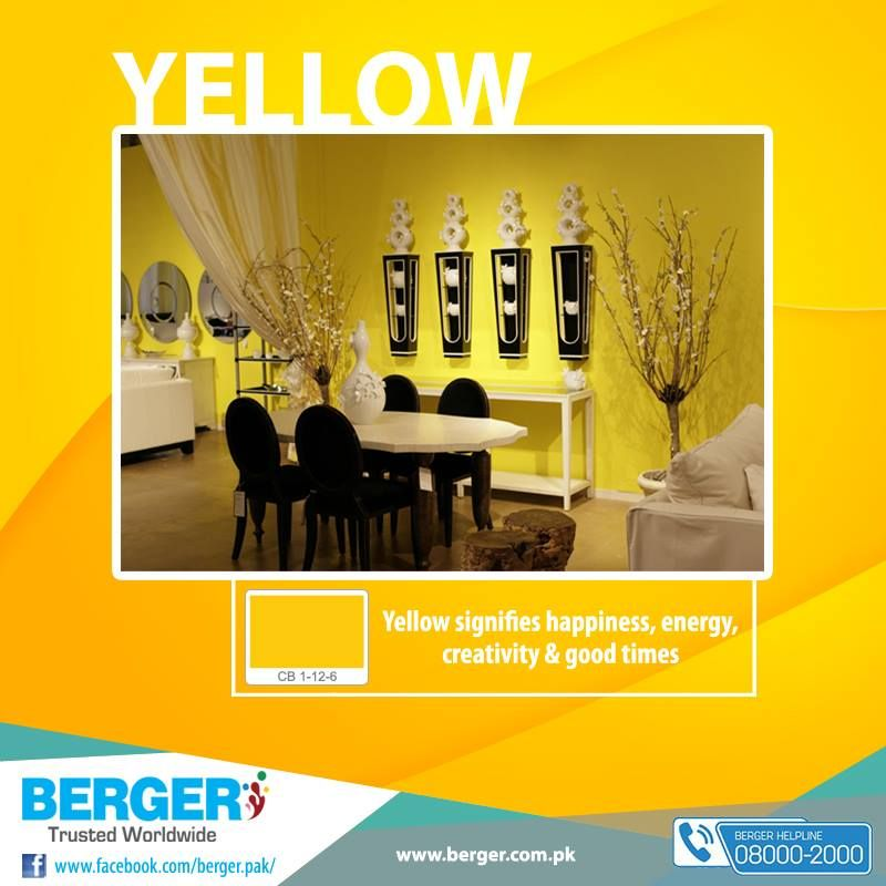 #Berger #BergerPaintPakistan #BergerPaint #Color #Paint #Decor #YellowKitchen #Yellow #LivingRoom