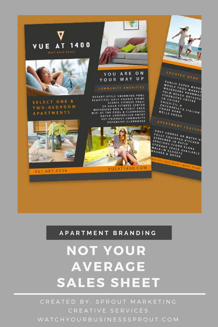 Preview Vue At 1400 Apartments S Sheet Created By Sprout Marketing Creative Services Need