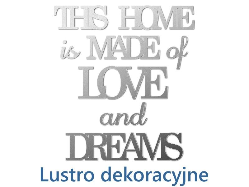 Lustro This Home Is Napisy Dekoracyjne Na ścianę