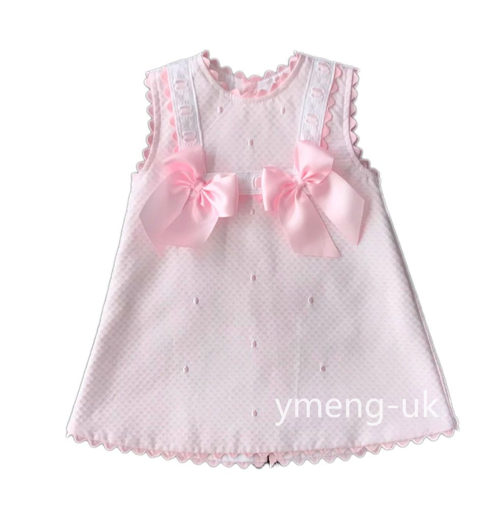97e2e51a2c8e  SS18  New Stunning Wee Me Baby s Girl Pink Spanish Dress with  Bows Embroidered