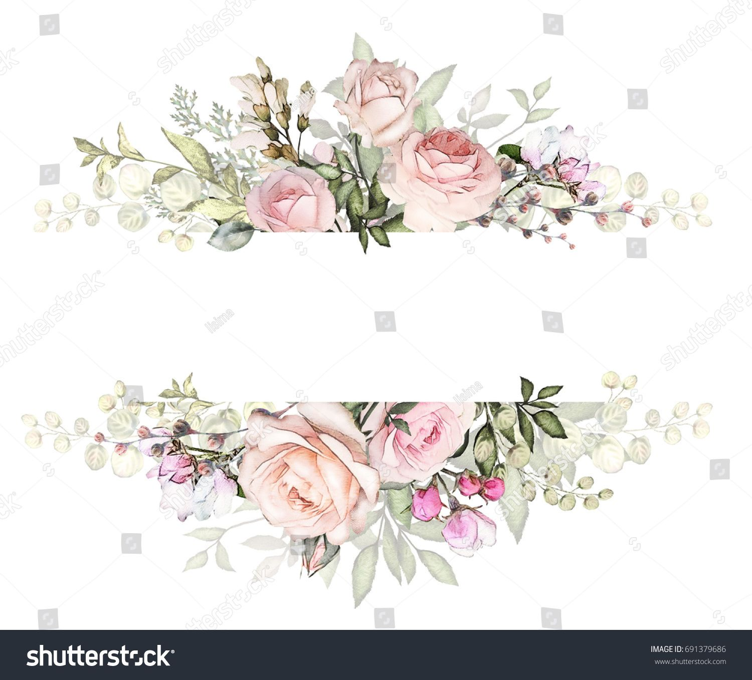 Floral Wedding Cards Background Template