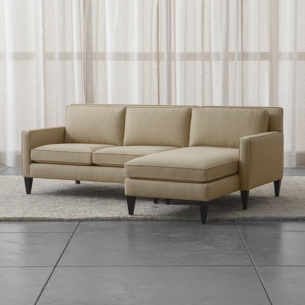 Rochelle 2 piece sectional sofa crate and barrel