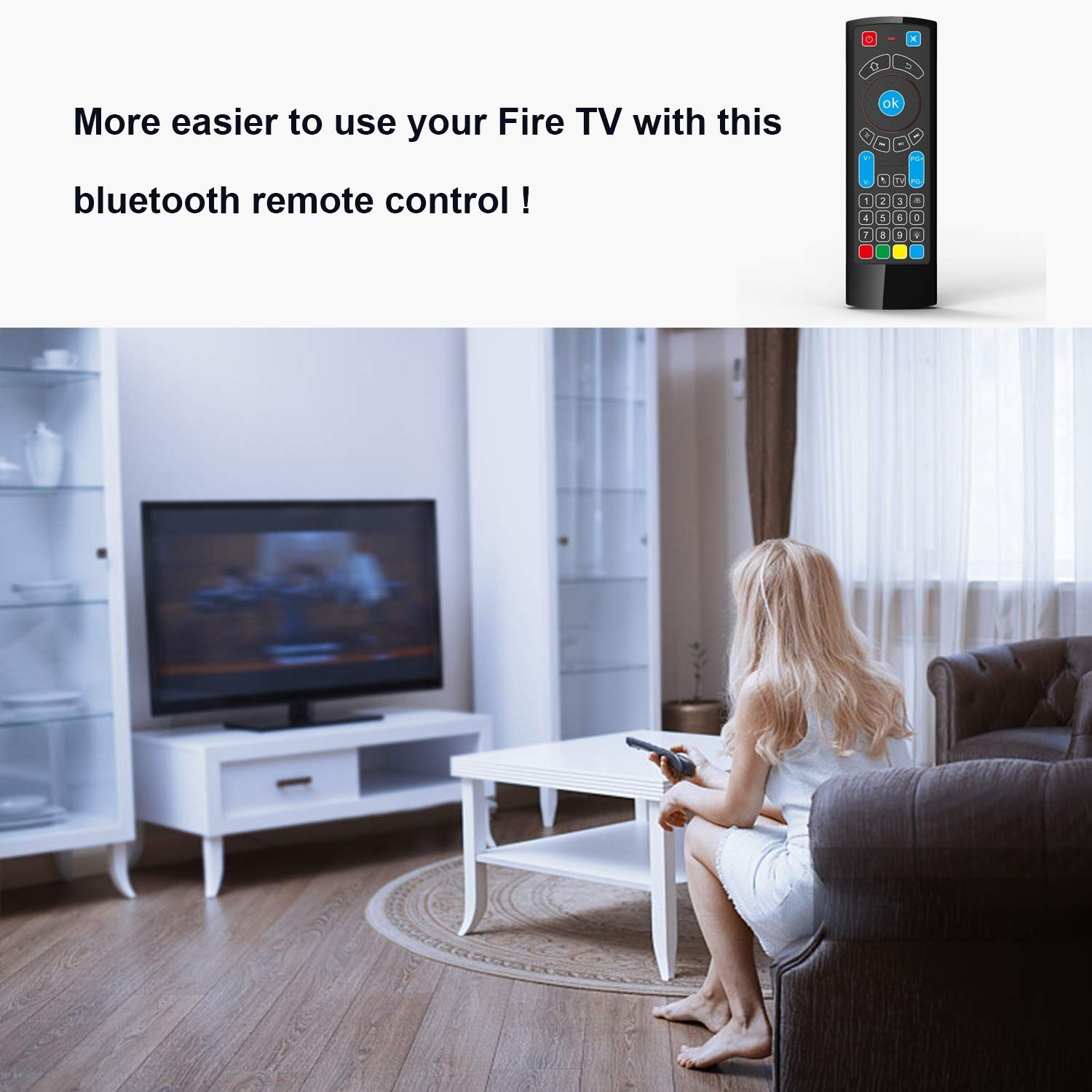 Bluetooth Remote Specifically Compatible With Amazon Fire Tv And Fire Tv Stick Air Remote Control With Keyboard Bluetooth Remote Android Tv Box Fire Tv Stick