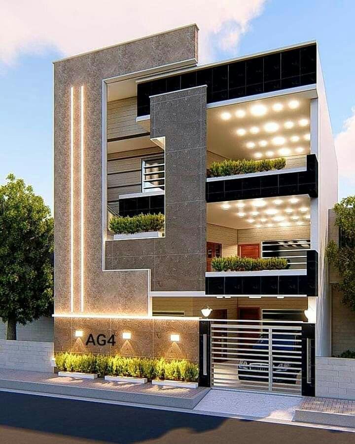 Home Elevation Exterior Design Elevation Design Elevation Lighting Bunglow Elevation In 2020 Modern Exterior House Designs House Exterior Duplex House Design