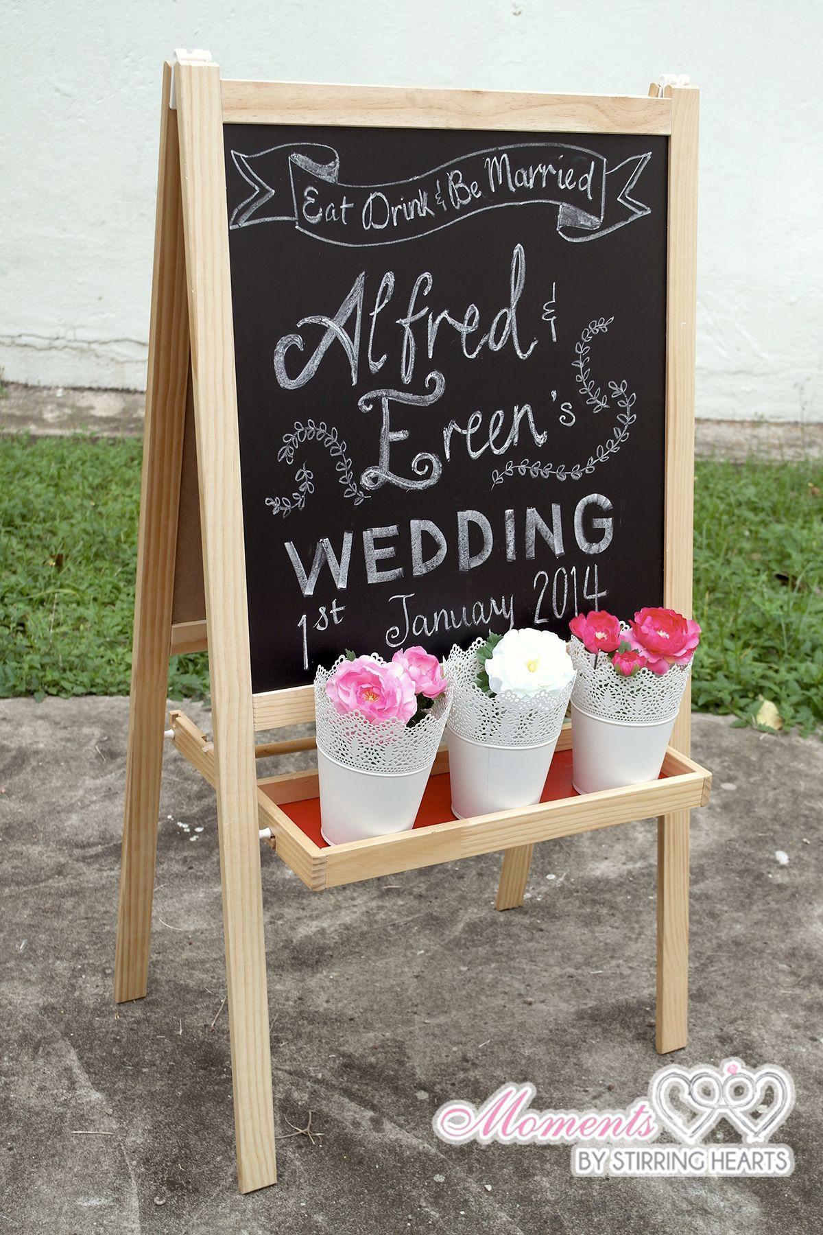 ikea chalkboard wedding welcome sign garden wedding pinterest ikea chalkboard and wedding. Black Bedroom Furniture Sets. Home Design Ideas