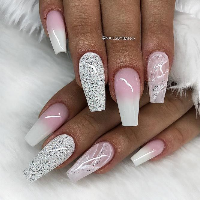 The Most Stylish Ideas For White Coffin Nails Desi