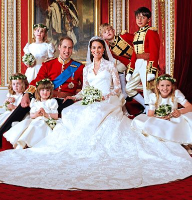 "Prince William of Wales and Catherine Middleton  April 29, 2011  Prince William wed his college sweetheart, Kate, in a storybook wedding televised to hundreds of millions worldwide. The bride said ""I do"" in a custom Alexander McQueen gown with an 8-foot train in front of 2,000 guests at Westminster Abbey and had two post-nuptials receptions, switching into a second Alexander McQueen gown for her evening party."