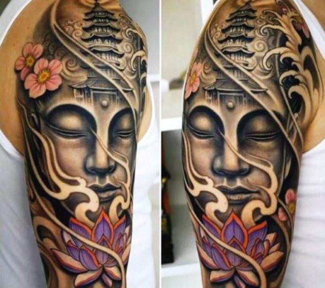 Buddhist Tattoo Ideas Cool Half Sleeve Tattoos Half Sleeve Tattoos For Guys Tattoo Sleeve Designs
