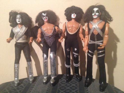 1977 Vintage Mego Kiss Dolls Complete Including Gene Paul Ace