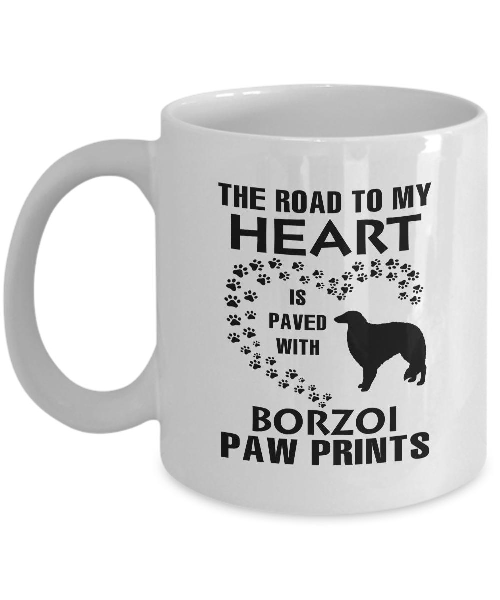 Borzoi Mug Cairn terrier, Gifts in a mug, White tea cups