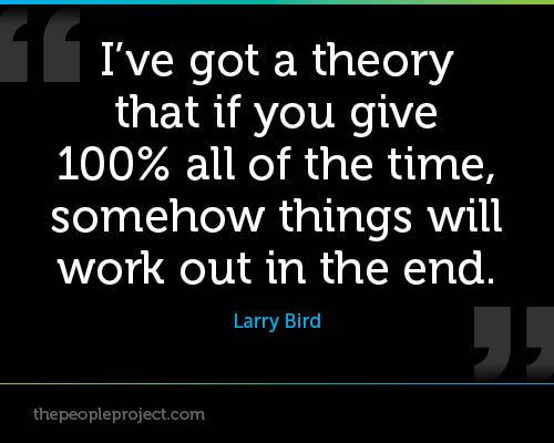 Quotes Giving 100 Percent Effort The People Project Sports