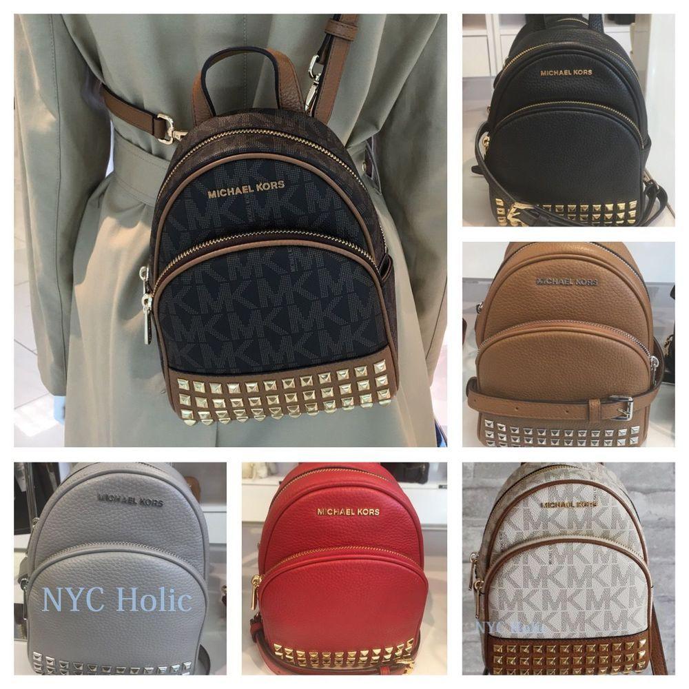 48f8cfe51176 New Michael Kors Abbey XS Studded Mini Backpack Crossbody NWT #MichaelKors  #BackpackStyle