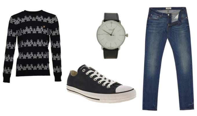 Men\u0027s casual Christmas party outfit idea