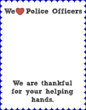 Police Week Thank You Community Helpers Preschool Community