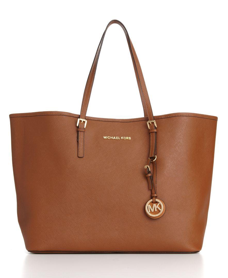 MICHAEL Michael Kors Saffiano Medium Travel Tote - Handbags ...