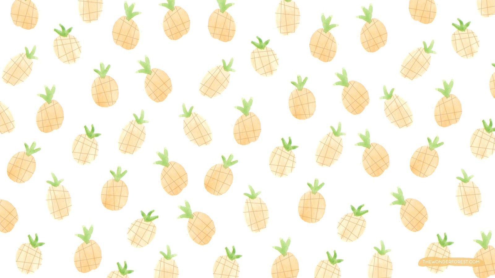 Fruity Iphone And Desktop Wallpapers Wonder Forest Pineapple Wallpaper Watercolor Desktop Wallpaper Cute Pineapple Wallpaper