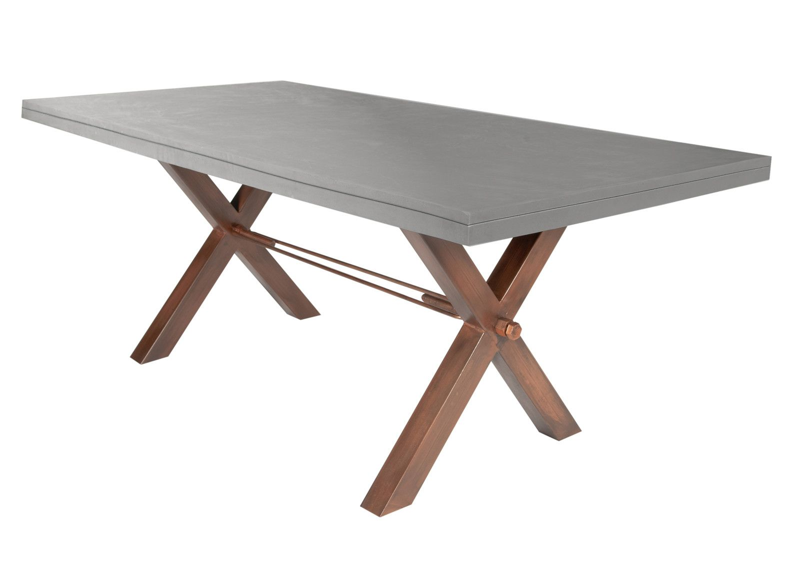 Industrial Style Esstisch BetonOptik Esstisch, Tisch