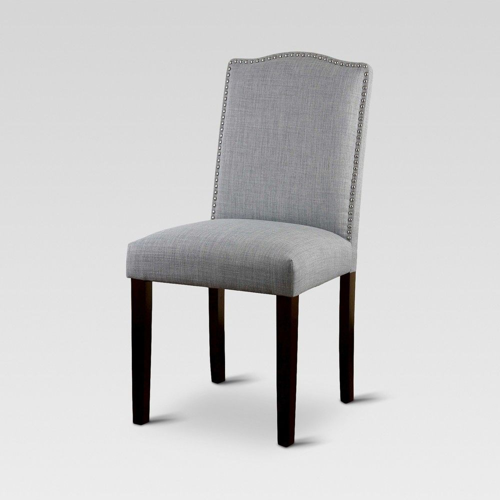 Camelot Nailhead Dining Chair Dove Gray 1 Pack Threshold