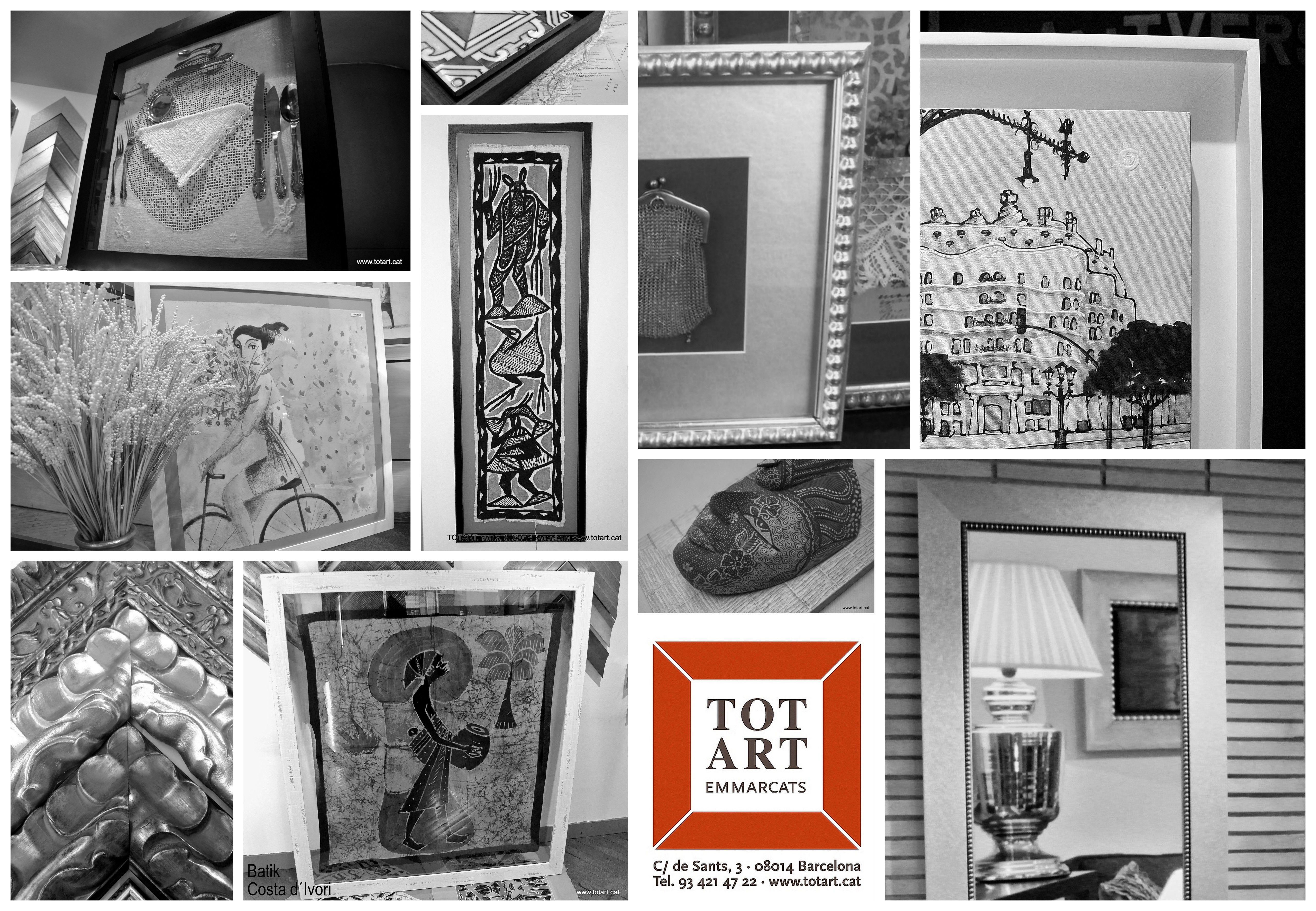 Tienda de marcos y cuadros TOTART en Barcelona, Cataluña. Carrer de ...