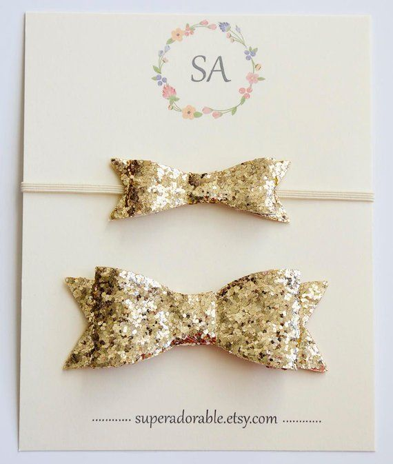 af3186fb52436 Mommy and Me headband, Big Sister,Little Sister, Gold Glitter ...