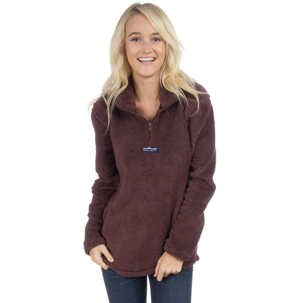 0a64f4474d Linden Sherpa Pullover in Chocolate by Lauren James - FINAL ...