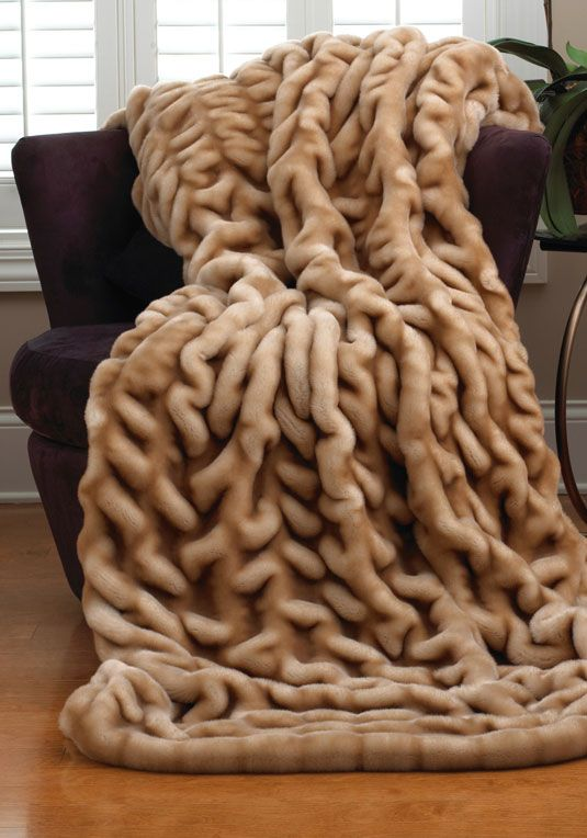 Champagne Mink Faux Fur Couture Throw Blankets Faux Fur Awesome Real Mink Throw Blanket