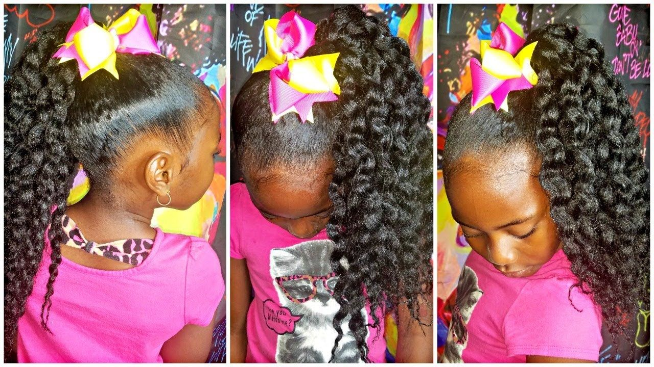 Crochet Slick Ponytail Children S Natural Hair Youtube Hair Styles Kids Hairstyles Natural Hair Styles