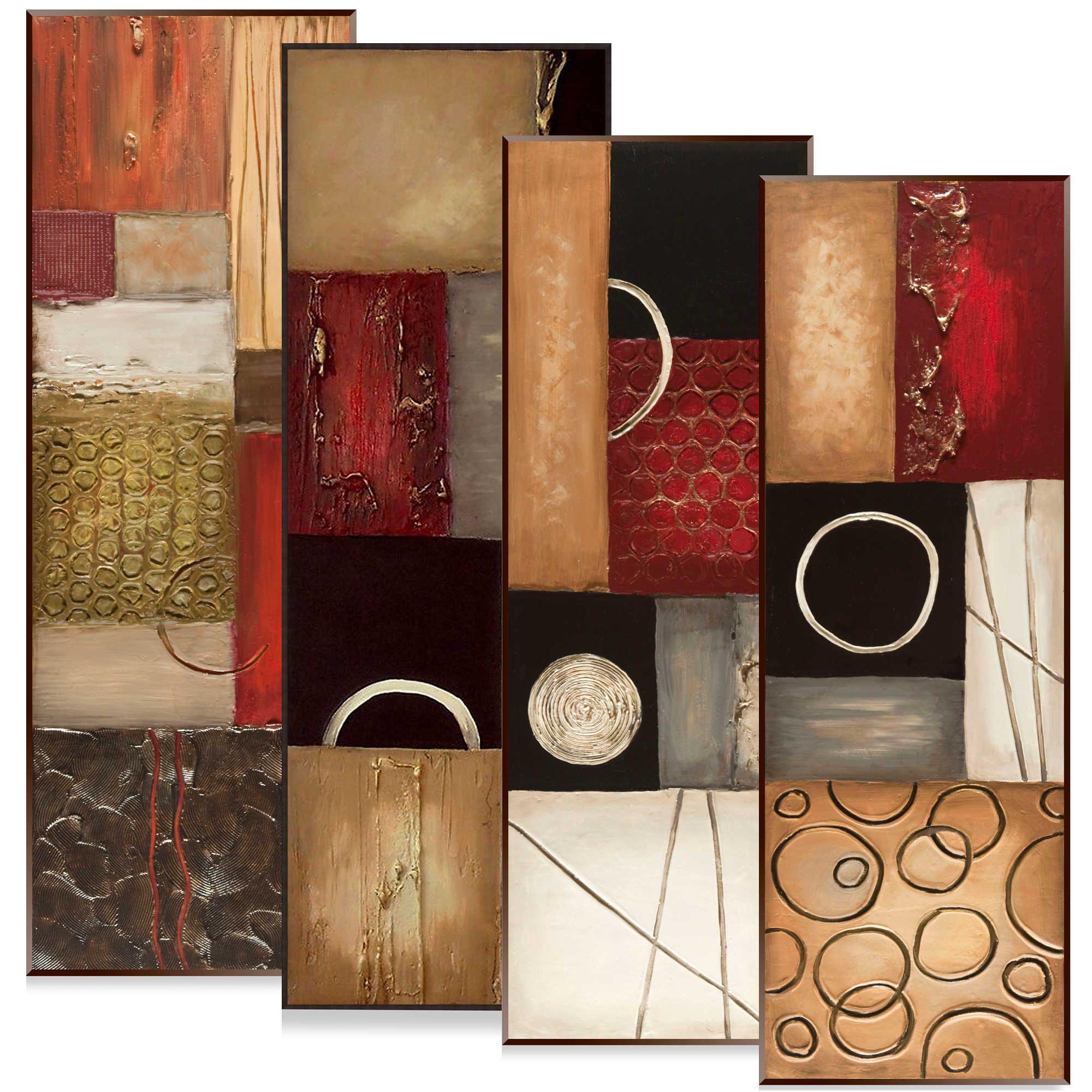 Textured panel wall art