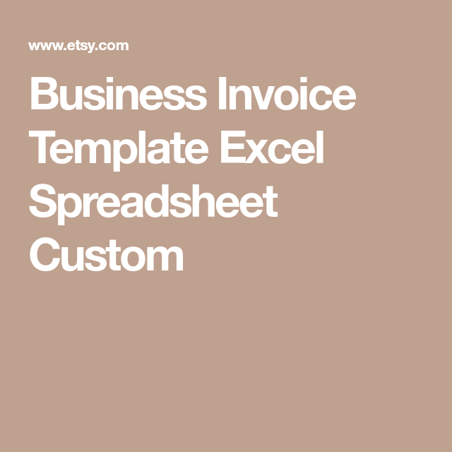 Business Invoice Template Excel Spreadsheet Custom  Cleaning