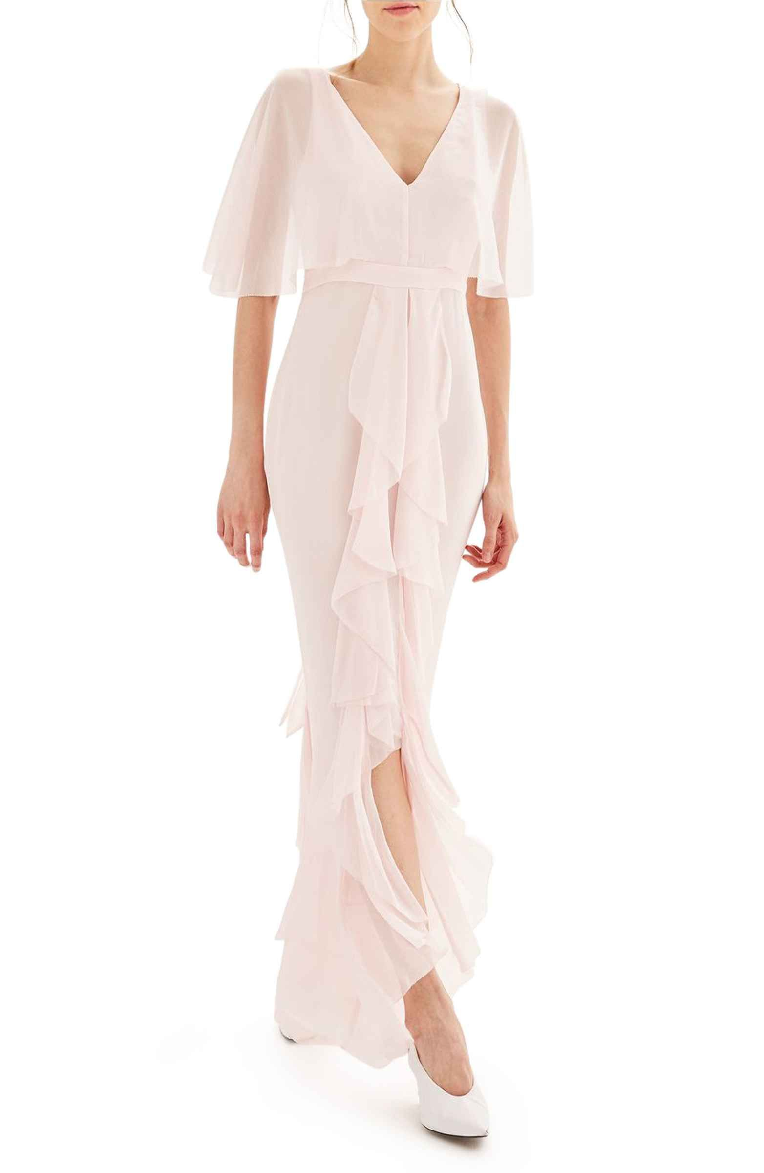 Main Image - Topshop Bride Cascade Gown | Sam & Nathan Great Gatsby ...