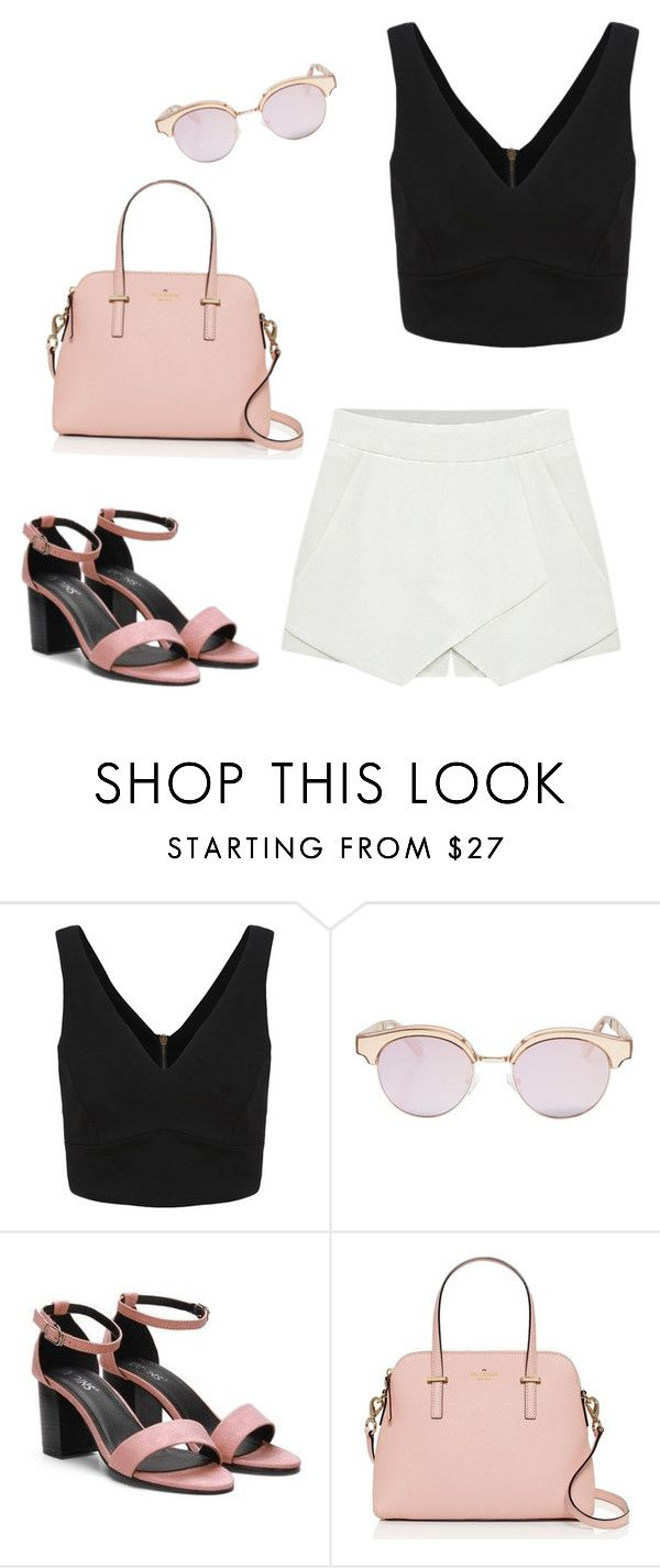 """Sans titre #297"" by girly-1d-girl ❤ liked on Polyvore featuring Le Specs and Kate Spade"