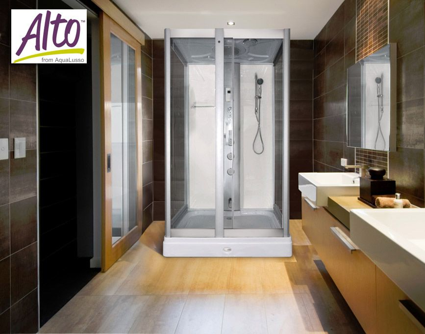 AquaLusso - Alto 50 - 1200mm x 900mm Steam Shower - Polar White ...