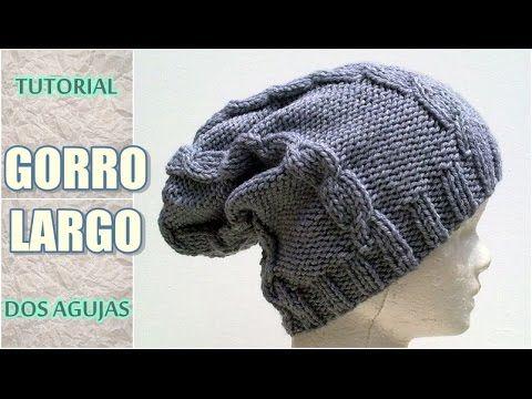 f212effd76f20 Crochet Hats - DIY como tejer gorro largo o caído