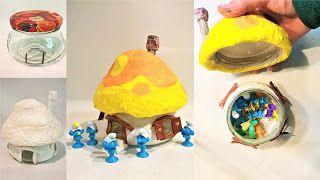 Pomysły plastyczne dla każdego, DiY - Joanna Wajdenfeld: Domek dla smerfów z kuchennego ręcznika