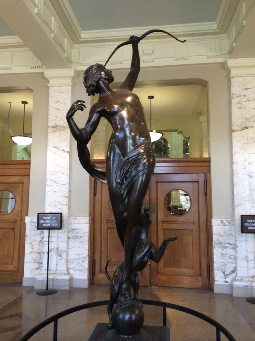 Diana by anna hyatt huntington carnegie library syracuse