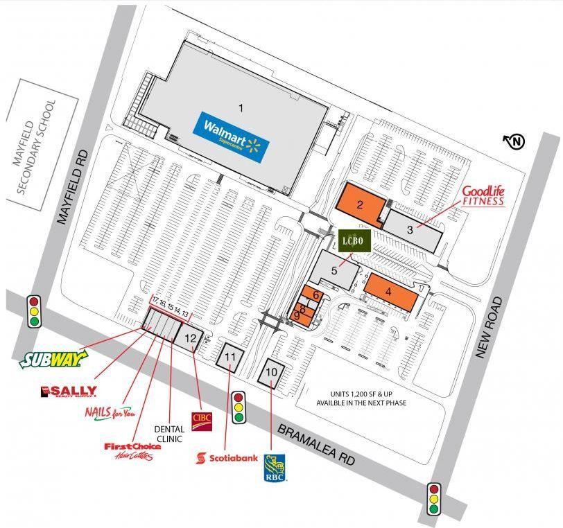 SmartCentres Brampton (Northeast) shopping plan Brampton