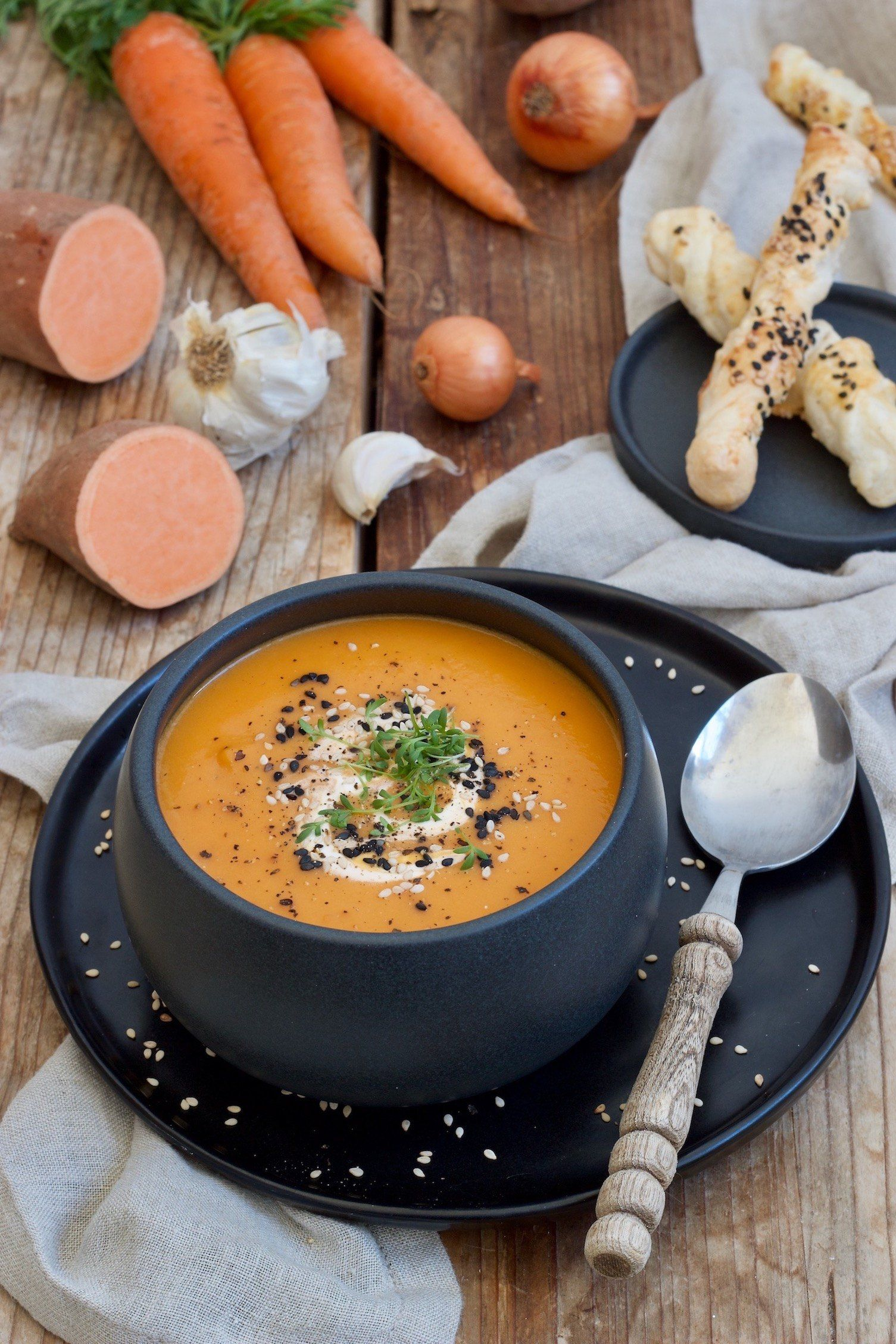 Süßkartoffel-Karotten-Suppe - Rezept - Sweets & Lifestyle®