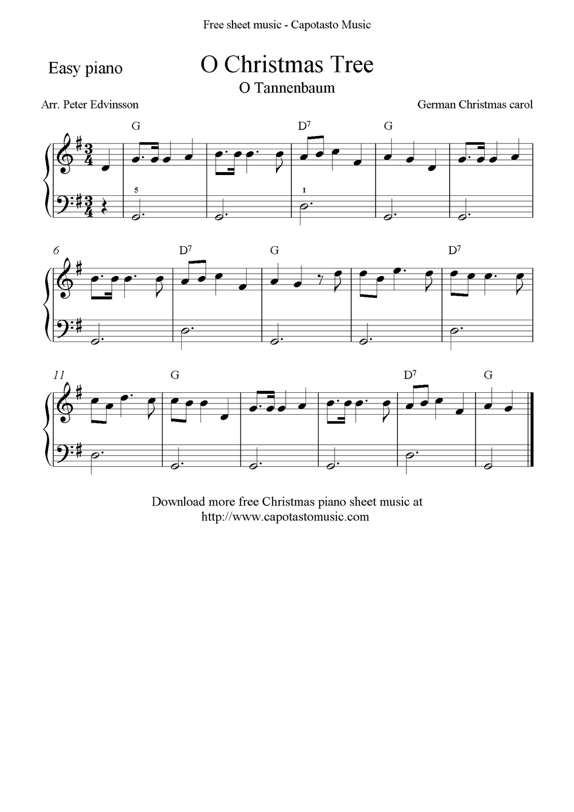 Free Sheet Music Scores: September 2011 | free online scores ...