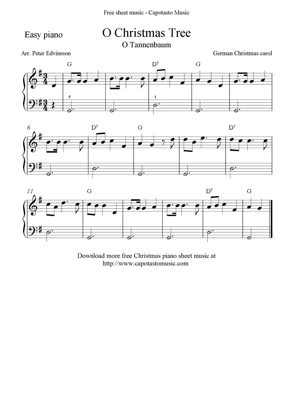 Free Sheet Music Scores Free Christmas sheet music for