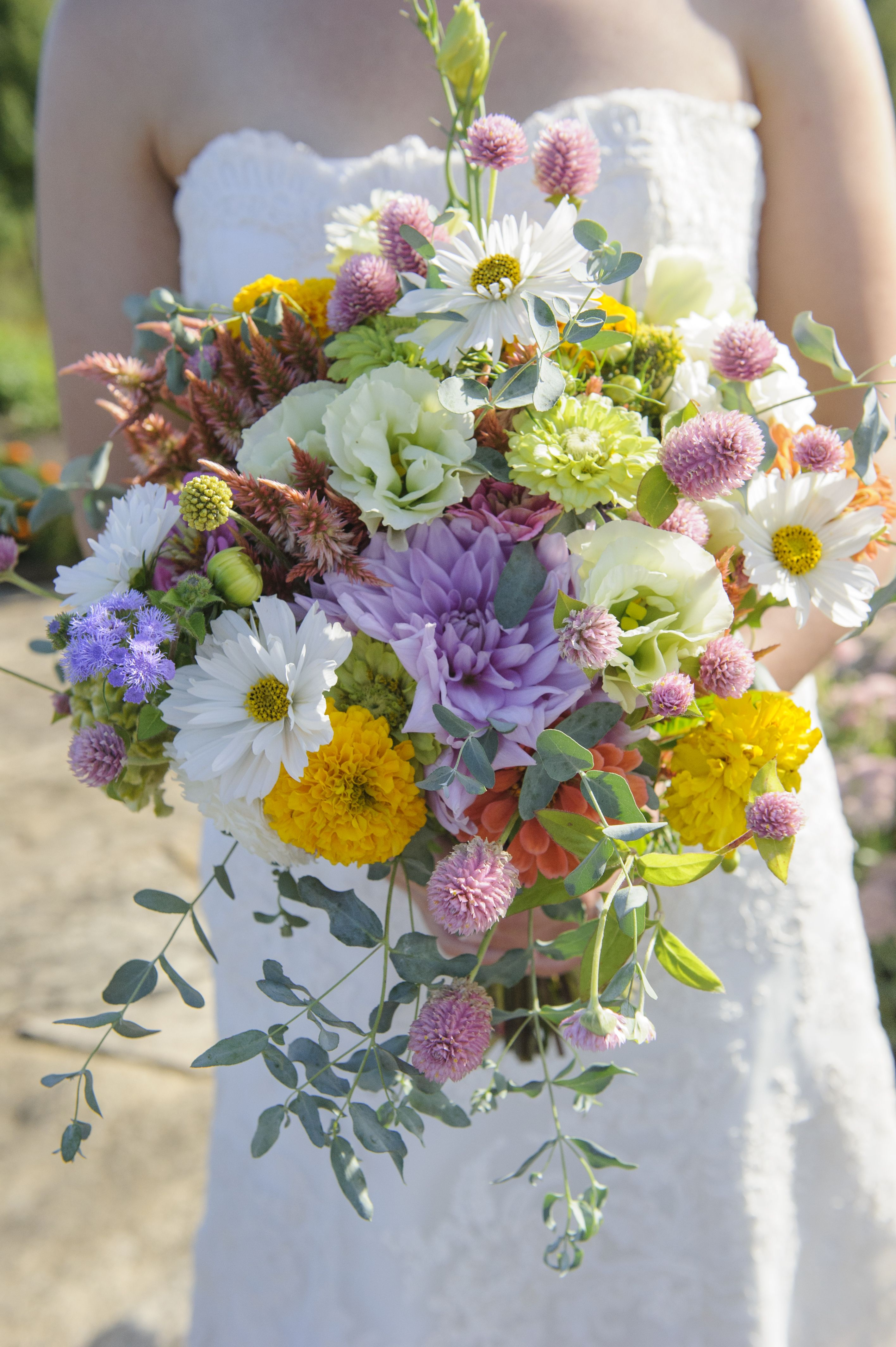 field grown wedding bouquets another lovely bridal