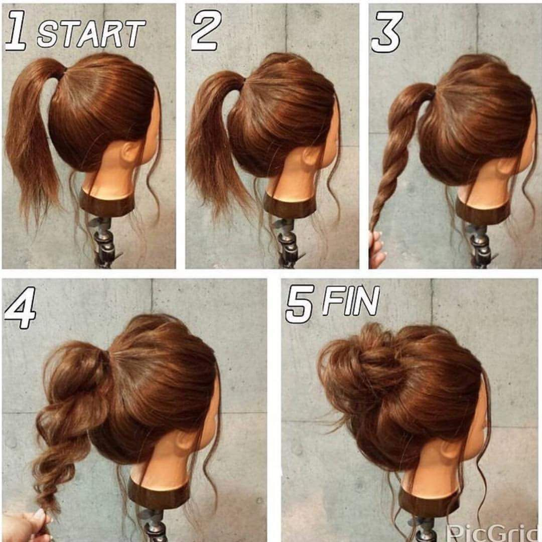 55 Easy Updos To Look Effortlessly Chic Frisuren Frisur
