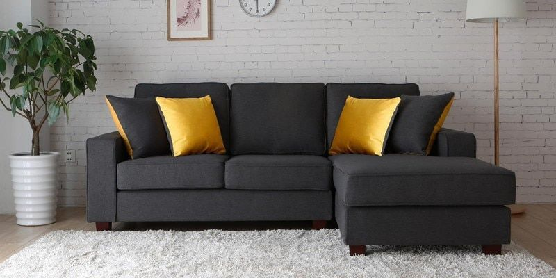 Castilla Lhs Two Seater Sofa With Lounger And Throw Cushions