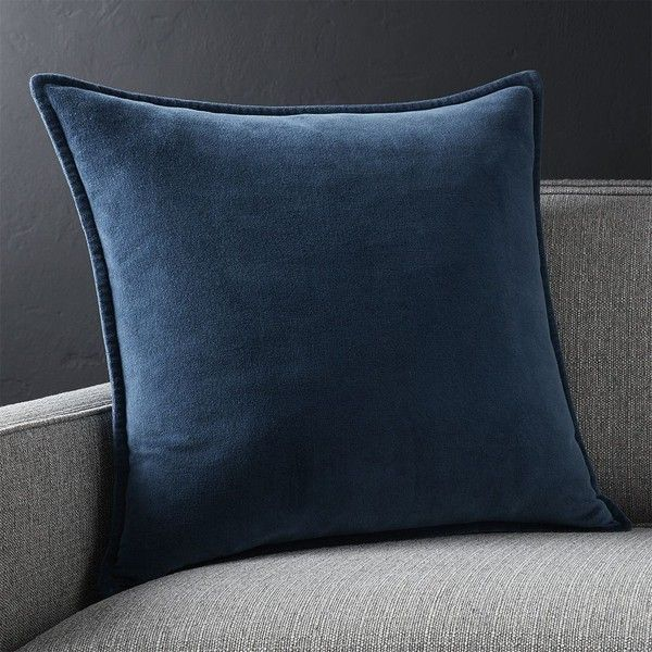 Crate Barrel Brenner Indigo Blue 40 Velvet Pillow With 40 Magnificent Crate And Barrel Decorative Pillows
